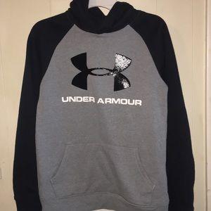 Like new Boys Under Armour gray sweatshirt size M
